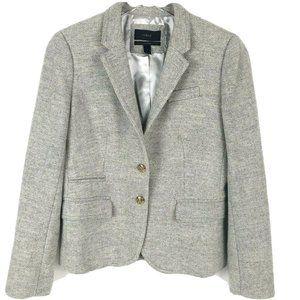 J Crew Schoolboy Blazer Wool Herring Tweed preppy
